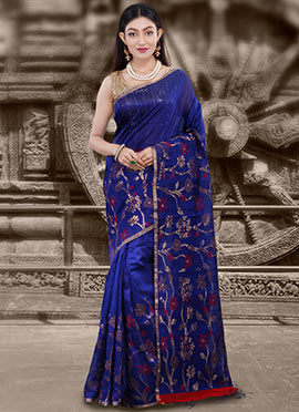 3bda1a5078 Buy Royal Blue Sarees | Royal Blue Color Sarees | Online Wedding ...