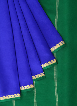 Royal Blue Mysore Pure Silk Saree