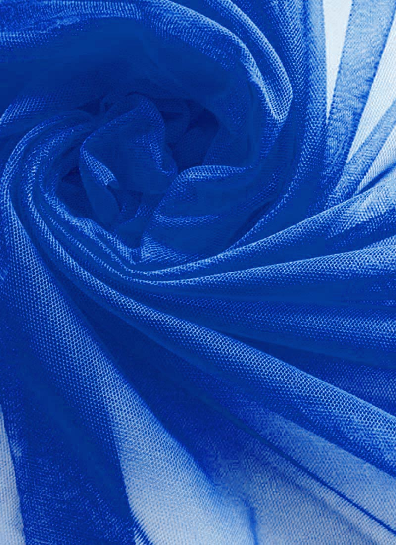 Buy Royal Blue Net Fabric, blended-solids Online Shopping ...
