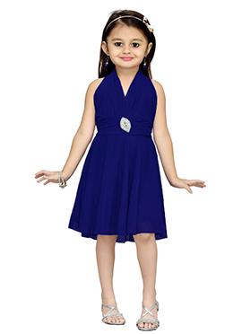 Royal Blue Net Kids Dress