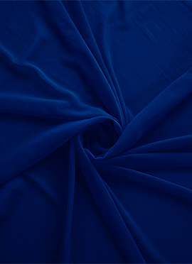 Royal Blue Opal Georgette Fabric