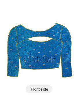 Royal Blue Paper Silk Blouse