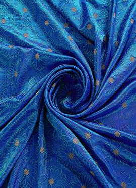 Royal Blue Paper Silk Fabric