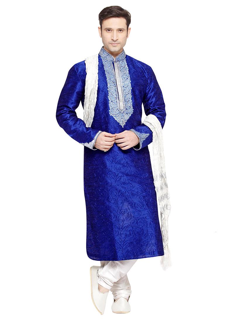 Buy Royal Blue Prem Ratan Kurta Pyjama 424371448