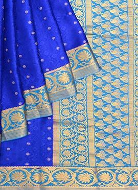 Royal Blue Pure Mysore Silk Saree