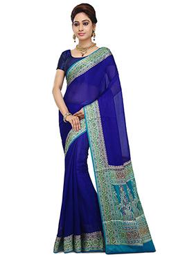 Royal Blue Pure Silk Saree