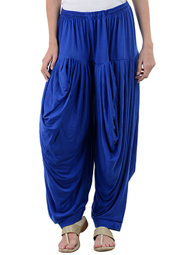 Royal Blue Rayon Dhoti Pant