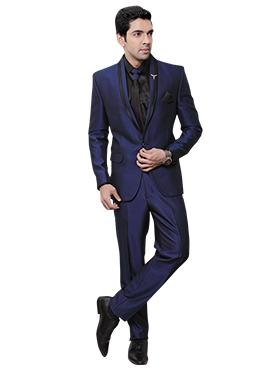 Royal Blue Rayon Lapel Suit