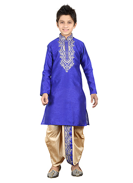 Royal Blue Teens Dhoti Kurta