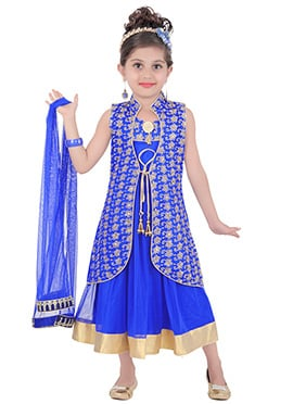 Royal Blue Teens Jacket Style gown