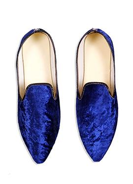 Ae Dil Hai Mushkil Royal Blue Velvet Mojris
