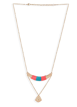 Rust N Blue Necklace