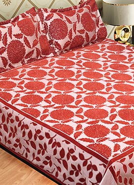 Rust Wool Bed Spread