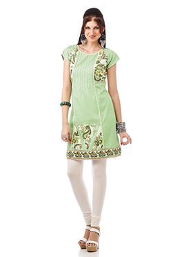 Sage Green Cotton Kurti