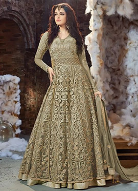 Sage Green Net Layered Anarkali Suit
