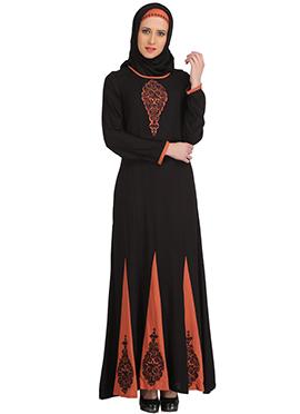 Sahlah Black Rayon Abaya