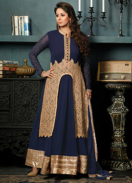 Sangeeta Ghosh Navy Blue Anarkali Suit