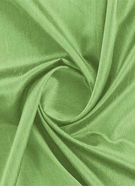 Sap Green Dupion silk Fabric