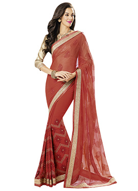 Rust Colored Saree