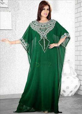 Scintillating Green Farasha Fustan