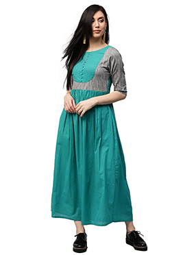 Sea Green Cotton Dress
