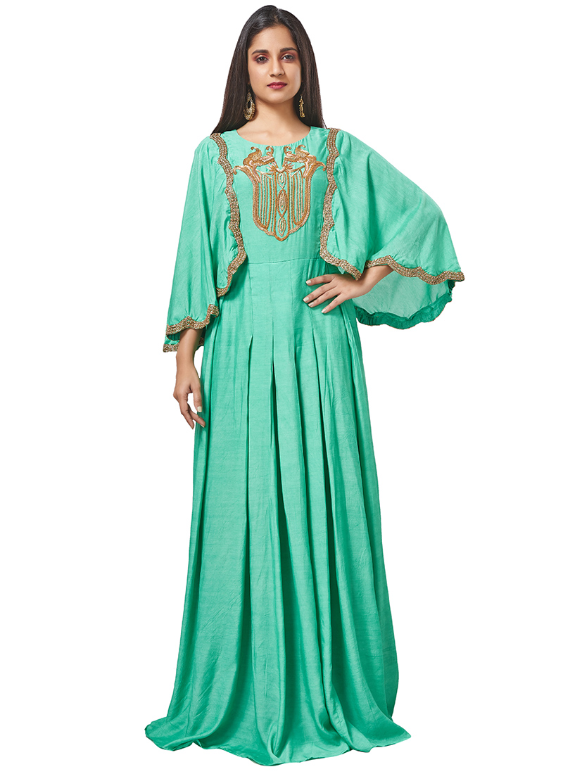 9cee2e8e30 Buy Sea Green Embroidered Anarkali Gown, Embroidered, dresses ...