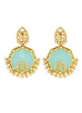 Sea Green One Stop Fashion Dangler Earrings