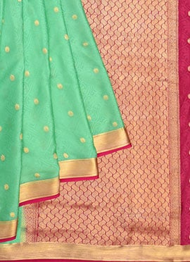 Sea Green Pure Handloom Mysore Silk Saree