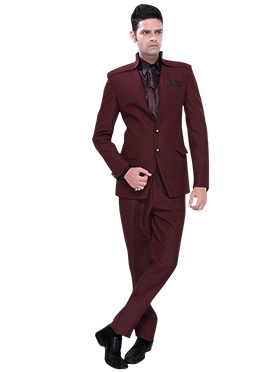 Seal BrownShawel Lapel Style Suit