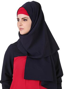 Senada Navy Blue Polyester Hijab