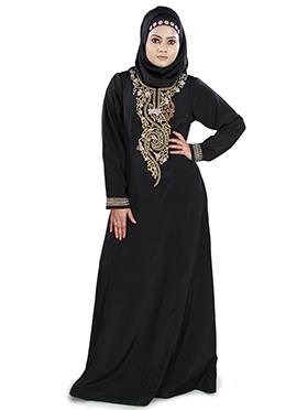 Shahnaaz Crepe Black Abaya