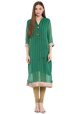 Shakumbhari Green Straight Kurti
