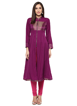 Shakumbhari Purple Anarkali Kurti