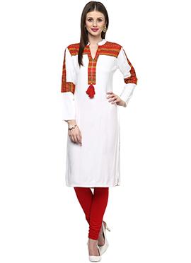 Shakumbhari White Viscose Kurti