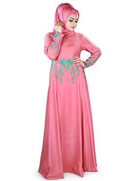 Shamila Rayon Pink Abaya
