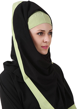 Sheila Black N Green Nida Dubai Hijab