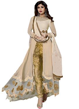Shilpa Shetty Center Slit Anarkali Suit