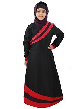 Shimah Black Kids Abaya