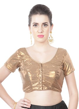 Shimmer Georgette Golden Blouse
