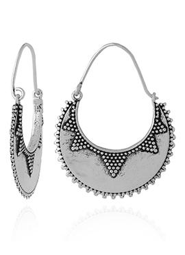 Silver Chaand Bali Earring