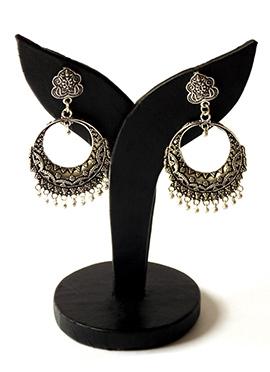 Silver Chaand Bali Earrings