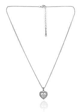 Silver Color Heart Shaped Pendant