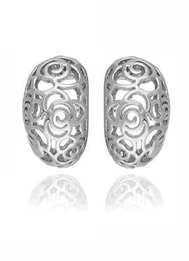 Silver Colored Stud Earring