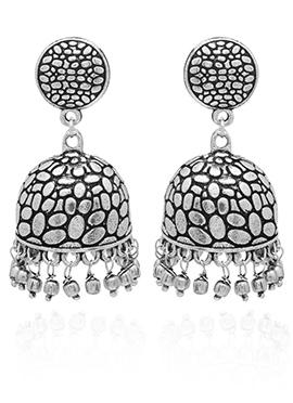 Silver Jhumka Earring
