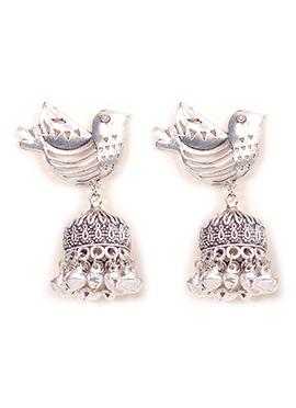 Silver Jhumka