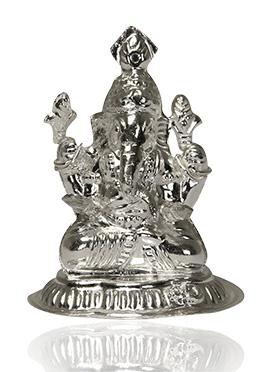 Silver Lord Ganesha Murti