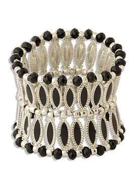 Silver N Black Bracelet