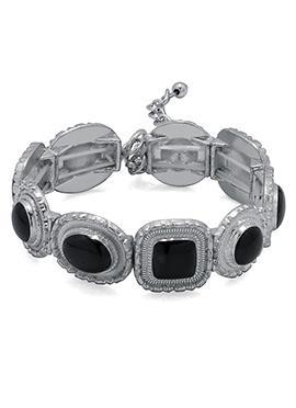 Silver N Black Bracelets