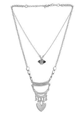 Silver N Black Necklace
