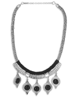 Silver N Black Necklace